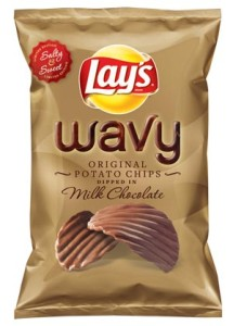 Lay's Wavy Chips Dipped in Chocolate?